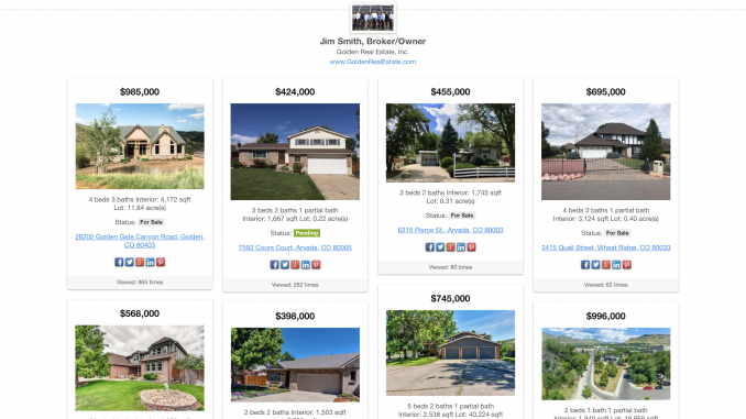 Jim Smith Featured Listings Board