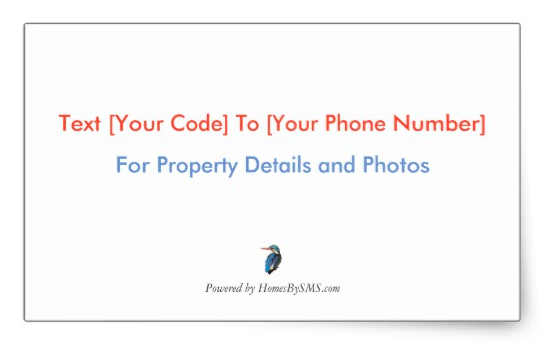 SMS real estate sticker for flyer boxes