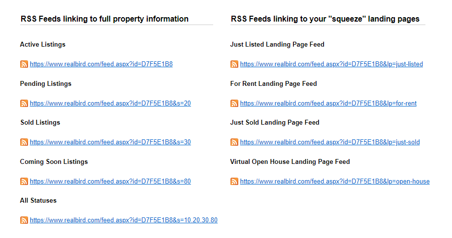 Listing RSS Feeds