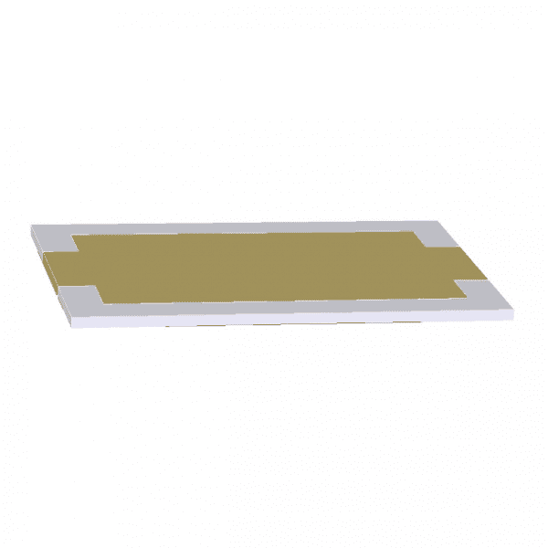 8mm x 12mm Rectangular QCM front side